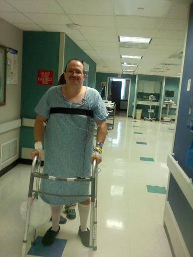 My first steps after my second spinal fusion surgery in Aug. 2013